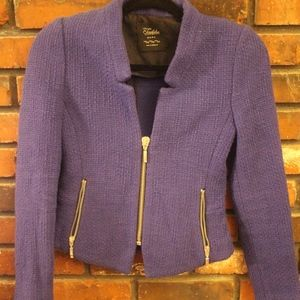 Zara Tweed Motto Blazer